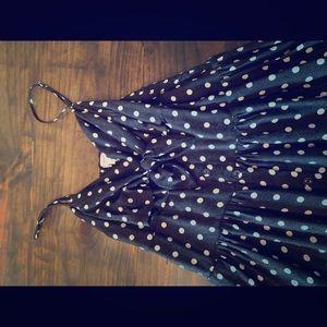 Xhiliration Target retro polka dot midi dress
